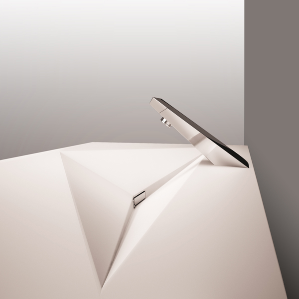 ANGLE wasbasin with hidden drain system (ARCHITIME design group)