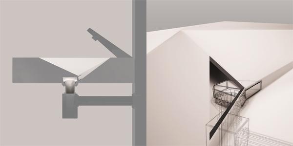Раковина ANGLE с невидимым сливом, дизайн Григория Малицкого и Марии Малицкой