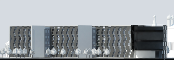 Concept project for mixed-use residential cluster © Grigoriy Malitskiy. Front