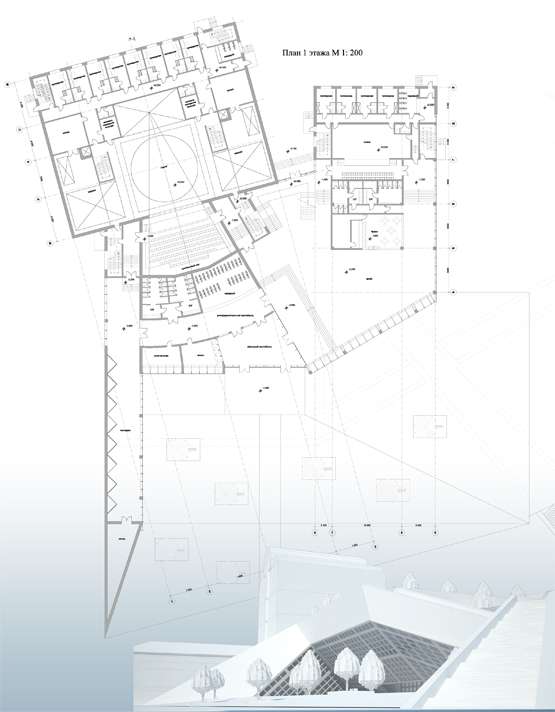 Design idea for the playhouse © Grigoriy Malitskiy. Plan. 3d