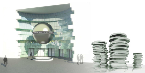 Сonceptual design for HSE (higher school of economy) Campus © Maria Malitskaya. Idea conception