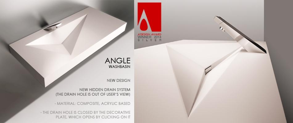 Washbasin Angle - дизайн раковины с невидимым сливом