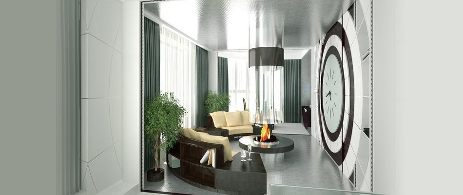 Interior for penthouse, Polyanka str., Moscow