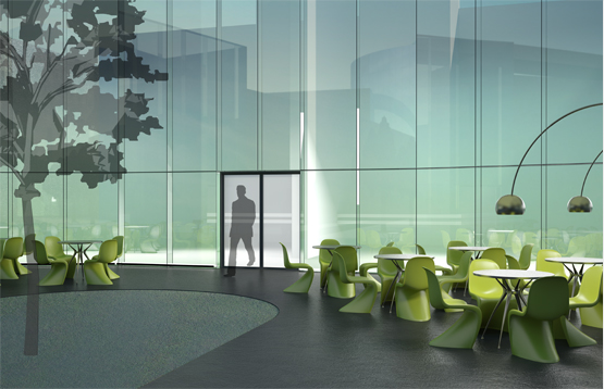 Сonceptual design for HSE (higher school of economy) Campus © Maria Malitskaya. The courtyard of the university